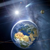 Inner Solar System, Artwork Photographic Print by Detlev Van Ravenswaay