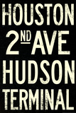 New York City Houston Hudson Vintage Subway RetroMetro Plastic Sign Wall Sign