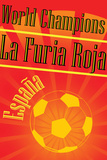 Spain 2010 World Cup Champions Sports Plastic Sign Plastic Sign
