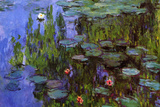 Claude Monet Water-Lilies Plastic Sign Plastic Sign by Claude Monet