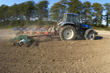 Tractor Ploughing a Field Photographic Print by Jeremy Walker