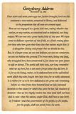 Gettysburg Address Full Text Plastic Sign - Plastik Tabelalar