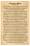 Gettysburg Address Full Text Plastic Sign Plastic Sign