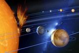 Le système solaire Reproduction photographique par Detlev Van Ravenswaay