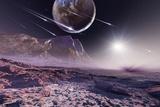 Alien Meteorite Shower, Artwork Posters by Detlev Van Ravenswaay