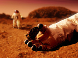 Astronaut Holds Martian Rock Photographic Print by Detlev Van Ravenswaay