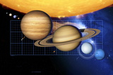Planets And Sun with Scale Photographic Print by Detlev Van Ravenswaay
