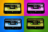 Audio Cassette Tapes Bright Pop Plastic Sign Wall Sign