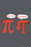 Pi Get Real Snorg Tees Plastic Sign Plastic Sign by  Snorg