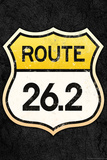 Route 26.2 Marathon Sports Plastic Sign Wall Sign