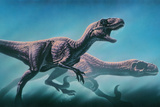 Utahraptors Hunting Prints by Joe Tucciarone