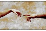 Woman And Man Touching Print by Detlev Van Ravenswaay