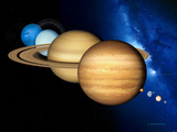 Solar System Planets Photographic Print by Detlev Van Ravenswaay