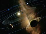Saturn And Solar System Premium Photographic Print by Detlev Van Ravenswaay