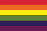 Gay Pride Rainbow Flag Print Plastic Sign Plastic Sign