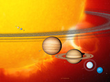 Sun And Its Planets Premium Photographic Print by Detlev Van Ravenswaay