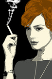 Joan Holloway Smoking Pop Television Plastic Sign Plastskilt