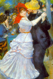 Pierre Auguste Renoir Dance at Bougival Plastic Sign Plastic Sign by Pierre-Auguste Renoir