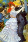 Pierre Auguste Renoir Dance at Bougival Plastic Sign Plastic Sign by Pierre-Auguste Renoir