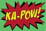 Ka-Pow! Comic Pop-Art Plastic Sign Plastic Sign