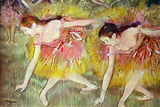 Edgar Degas Ballet Dancers Plastic Sign Wall Sign by Edgar Degas