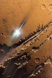Asteroid Impact on Mars, Artwork Photographic Print by Detlev Van Ravenswaay