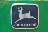 Vintage John Deere Tractor Metal Emblem Plastic Sign Wall Sign