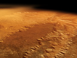 Valles Marineris, Mars Photographic Print by Detlev Van Ravenswaay