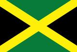 Jamaica National Flag Plastic Sign Znaki plastikowe