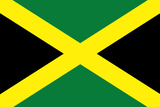 Jamaica National Flag Plastic Sign Plastic Sign