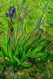 Vincent Van Gogh The Iris Plastic Sign Plastikschild von Vincent van Gogh