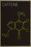 Caffeine Molecule Plastic Sign Plastikskilte