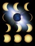 Total Solar Eclipse, Artwork Print by Detlev Van Ravenswaay