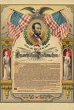 Abraham Lincoln Emancipation Proclamation Historical Document Plastic Sign Znaki plastikowe