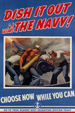 Dish It Out with the Navy WWII War Propaganda Plastic Sign Plastic Sign