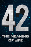 42 The Meaning of Life Plastic Sign Plastic Sign