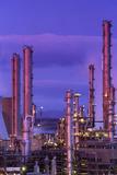Petrochemical Plant Fotografisk tryk af Jeremy Walker