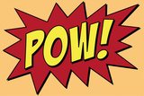 Pow Comic Pop-Art Plastic Sign Wall Sign