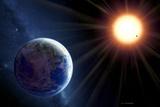 Extrasolar Planet Gliese 581c, Artwork Photo by Detlev Van Ravenswaay