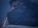 Volcanic Lightning, Iceland, April 2010 Photographic Print by Olivier Vandeginste