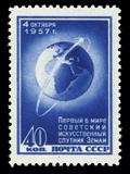 Sputnik 1 Stamp Premium Photographic Print by Detlev Van Ravenswaay