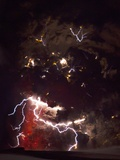 Volcanic Lightning, Iceland, April 2010 Photographic Print by Olivier Vandeginste