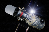 Hubble Space Telescope In Orbit, Artwork Photographic Print by Detlev Van Ravenswaay