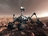 Curiosity Rover, Artwork Photographic Print by Detlev Van Ravenswaay