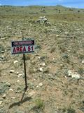 Area 51 UFO Site Poster by Detlev Van Ravenswaay