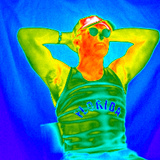 Thermogram of a Man Sunbathing Photographic Print by Dr. Arthur Tucker