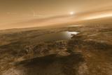 Liquid Hydrocarbons on Titan, Artwork Photographic Print by Detlev Van Ravenswaay