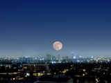 Full Moon Over Beverly Hills, USA Photographic Print by Detlev Van Ravenswaay