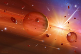 Solar System Formation Photographic Print by Detlev Van Ravenswaay