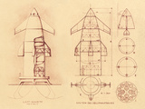 1951 Space Shuttle Design Posters by Detlev Van Ravenswaay